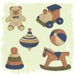 Hand drawn retro toys set — Stock Vector #34492837