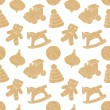 Retro toys seamless pattern — Vettoriali Stock