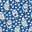 Stock Vector: Owl seamless pattern