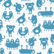 Monster seamless background — Image vectorielle