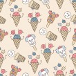 Ice cream circus background — Stock Vector #34493811