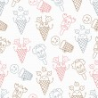 Ice cream circus background — Stock Vector