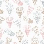 Ice cream circus background — Stock Vector