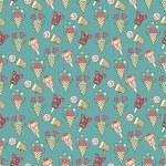 Ice cream circus background — Stock Vector #34493829