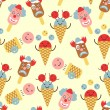 Ice cream circus background — Stock Vector #34493831