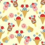 Ice cream circus background — Stock Vector #34493831