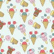 Ice cream circus background — Stock Vector #34493833