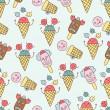 Ice cream circus background — Stock Vector #34493833