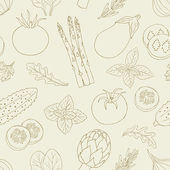 Modèle d'herbes et de légumes — Vecteur