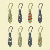 Tie set — Stock Vector