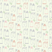 Teeth seamless pattern — Stock Vector