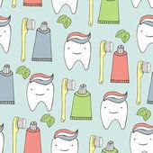 Bezszwowe tło zębów — Wektor stockowy