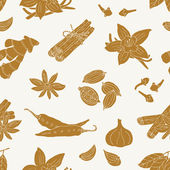 Spice seamless pattern — Stock Vector