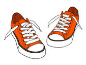 Cartoon sneakers — Stock Vector