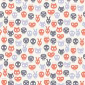 Skull seamless pattern — Vector de stock