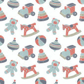 Retro toys seamless pattern — Stock Vector
