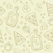 Pizza seamless background — Stock Vector