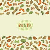 Pasta retro card — Stock Vector