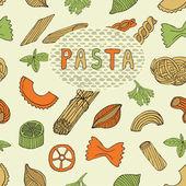 Retro pasta seamless pattern — Stock Vector