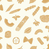 Retro pasta seamless pattern — Stock Vector