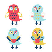 Owl set — Stock Vector