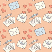 Love letter seamless background — Vettoriale Stock