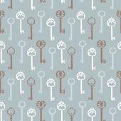 Key retro seamless background — Stock Vector