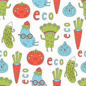 Cartoon vegetables set — Stock Vector
