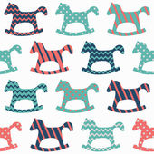 Horse seamless pattern — Stock Vector