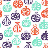Apple seamless pattern — Wektor stockowy