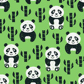Panda seamless pattern — Stock Vector