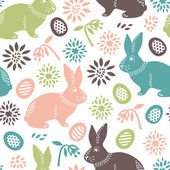 Easter seamless background — Stock Vector