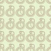 Watch seamless pattern — Stock Vector