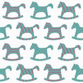 Horse seamless pattern — Vecteur