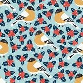 Bird seamless pattern — Stock Vector