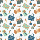 Cosmetic and bag seamless pattern — Wektor stockowy