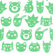 Forest animals seamless pattern. — ストックベクタ