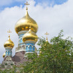 Russian orthodox church cupolas — Stock Photo #3341601