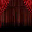 Horizontal Stage Drapes Open For Present — Stock Photo #2253723