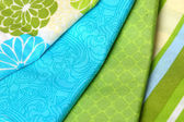 Blue and Green Colorful Palette of Fabric — Stock Photo