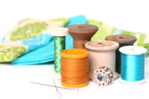 Sewing and Quilting Thread On White — Stockfoto