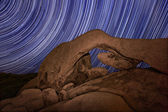 Long Exposure over the Rocks of Joshua Tree Park — Stock Photo