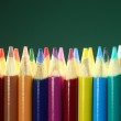 School Colored Pencils With Extreme Depth of Field — Stock Photo