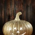 Halloween Pumpkin on Wood Grunge Rustick Background — Stock Photo #30318597