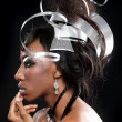Metal Headpiece on a Beautiful Model Posing — Stock Photo