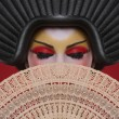 Beauty Concept of a Geisha Girl — 图库照片