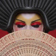 Beauty Concept of a Geisha Girl — Stock Photo