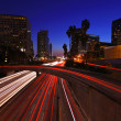 Timelapse Image of Los Angeles freeways at sunset — Stock Photo #37960051