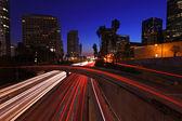 Timelapse Image of Los Angeles freeways at sunset — Stock Photo