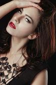 Beautiful Caucasian Woman Posing for Portraits — Stock Photo
